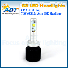 Auto car led headlight H27 881 72w 6000lm LED headlamp fog light bulbs