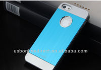 Colorful Aluminium case for iphone5/5s,backplate case for iphone 5 5s,luxury stand Brushed Aluminum case for iphone5 5S