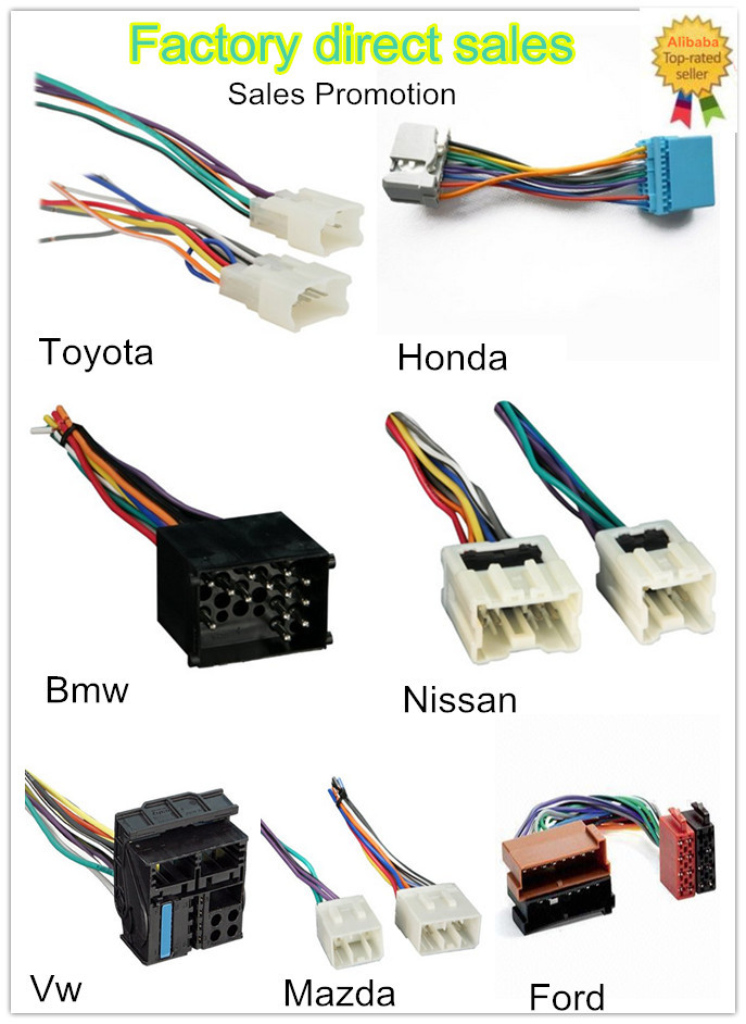 HTB19Xj0HFXXXXbAXpXXq6xXFXXXf toyota car rca male connector with speaker cable wire harnss, view Toyota Stereo Wiring Diagram at soozxer.org