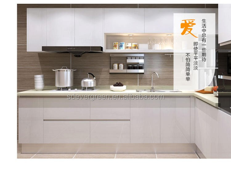 2017 Popular Modern Kitchen Cabinets Furniture With Promotional Price