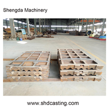 Mining Machine Stone Jaw crusher wearing parts Jaw plate in Mn13Cr2 or Mn18Cr2 for Metso, Terex, Pegson, Extec,Trio, Shanbao etc