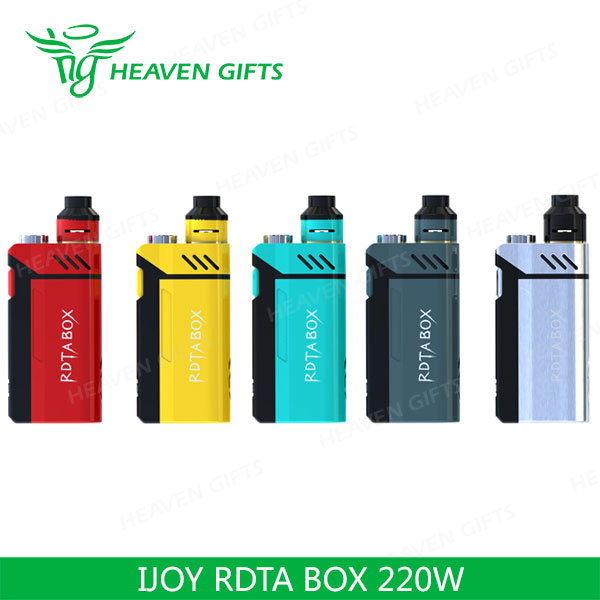 100% Authentic 12.8ml 200W IJOY RDTA BOX E Cigarette Kit