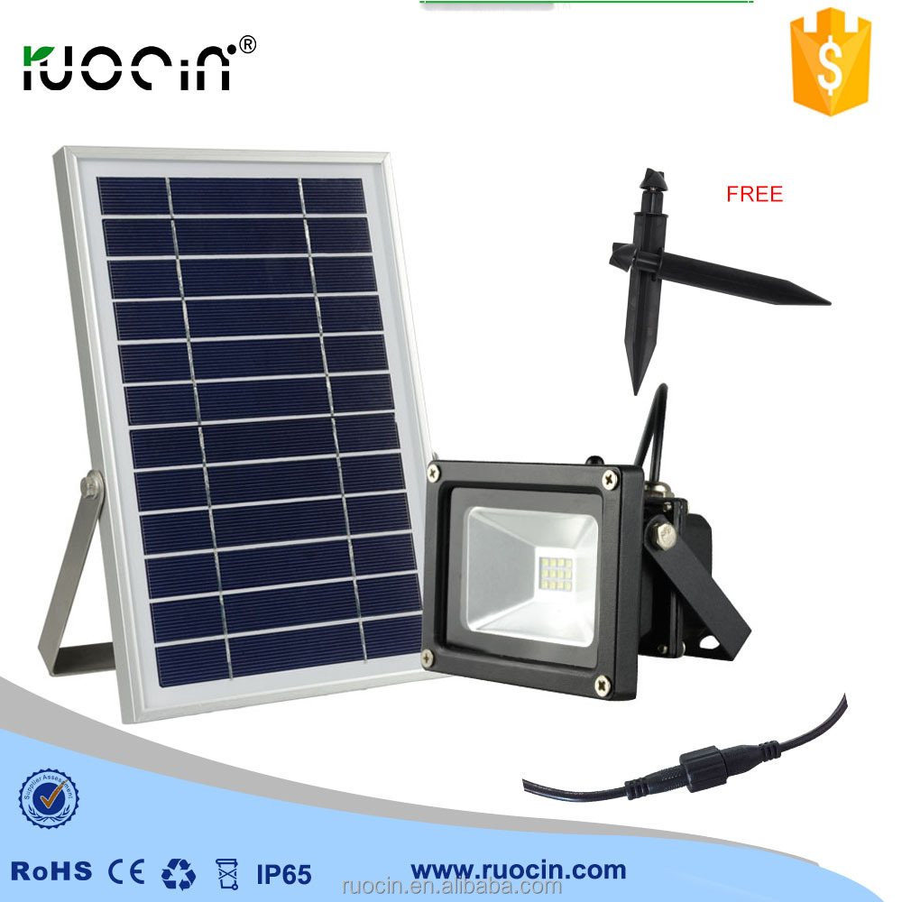 New development 12 pcs LED 6 W solar panel outdoor led spotlights