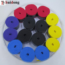 Yiwu factory Wholesale good quality Brand hand grip dynamometer anti-slip PU box soft grips colorful Badminton racket over grips