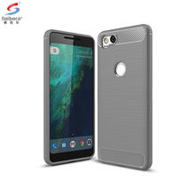 Saiboro soft tpu brush carbon fiber texture cell phone case for Google Pixel 2 shockproof back cover phone case