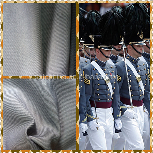 "T/R 65/35 28/2*28/2 76*56 2/2 57/58"" twill fabric -- Military uniform polyester viscose fabric textile"