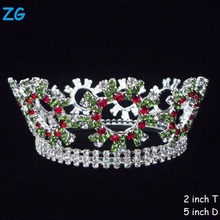 Beauty Rhinestone Diamond Pageant Tiara Full Round Crown Wholesale Crowns And Tiaras