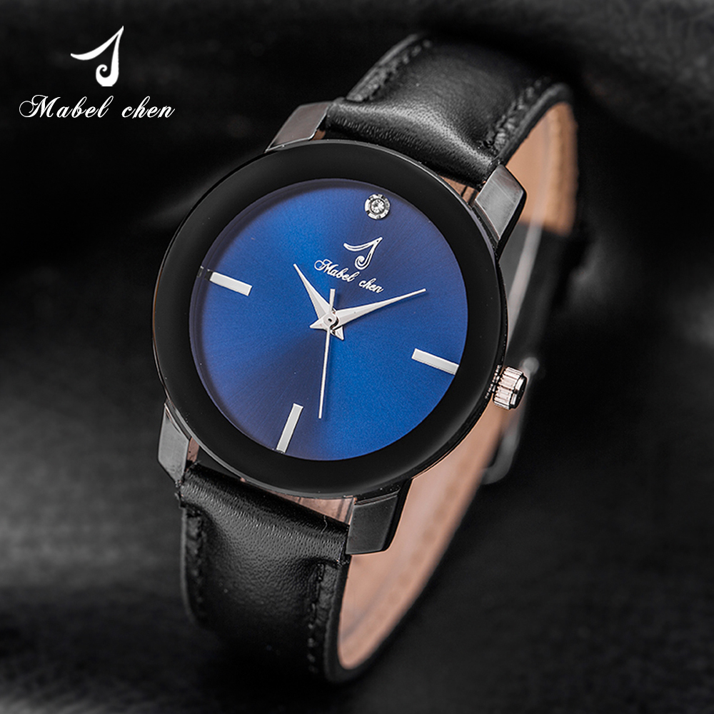 Fashional Real Leather Bands Water Resistance Watches Quart Wrist Watches For Lovers