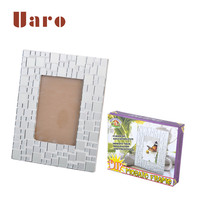 DIY mirror picture photo frame kits for children and adults