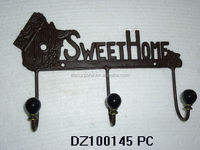 Antique Metal Decorative Wall Hooks For Hanging Clothes & Hats