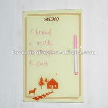 in promotion small size portable glass kitchen smart memo board
