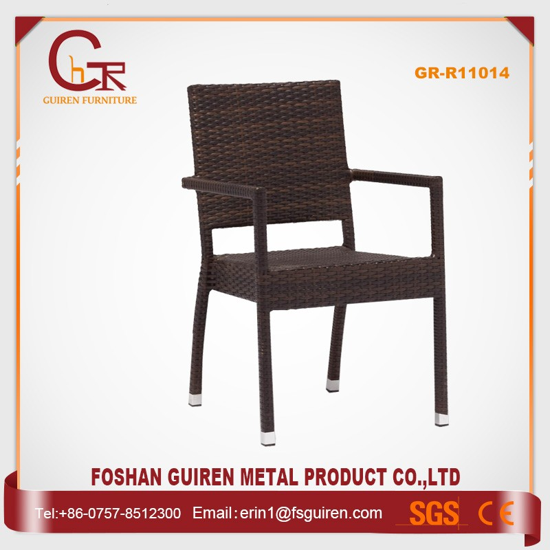Hot sale wholesale modern italian furniture armrest rattan dining chair