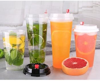 Eco Friendly compostable juice cup pla plastic drink cup