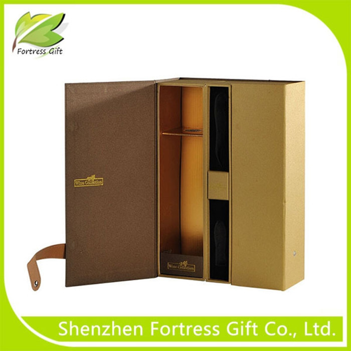 2015 New Designed Luxury Leather Wine Box for gift