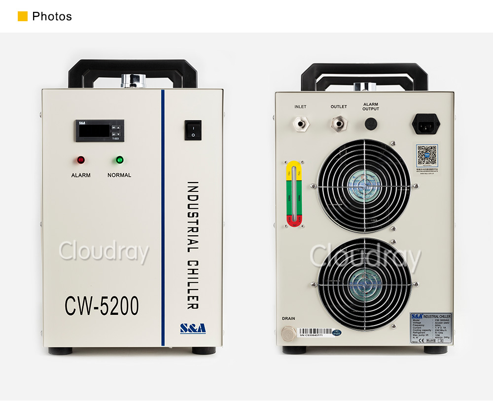 Cloudray CL501 S & A Water Chiller รุ่น CW3000/CW5000/CW5200/CW5202