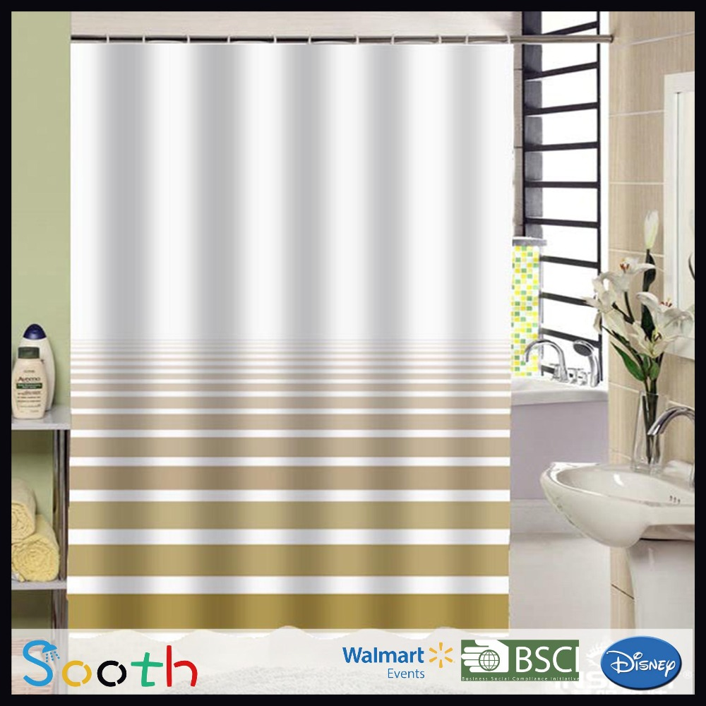 2016 Design Color Changing Shower Curtain,Shower Curtain Polyester