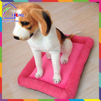 Soft machine washable fleece dog kennel beds