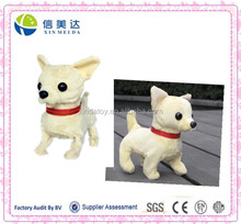 Walking and barking chihuahua dog plush toys electric toy