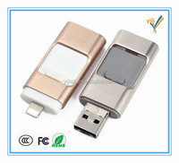 Coustom Hot Sale New Product Mobile Phone OTG USB Flash Drive For iPhone with Logo