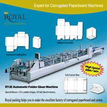 High Speed fully automatic carton folding and gluing machine for 6 corner box