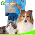 2017 Trending Products Silicone Massage 5 Fingers Design Pet Grooming Gloves