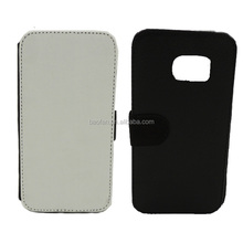 HOT sale Sublimation flip wallet leather phone case for galaxy S7,DIY flip cover