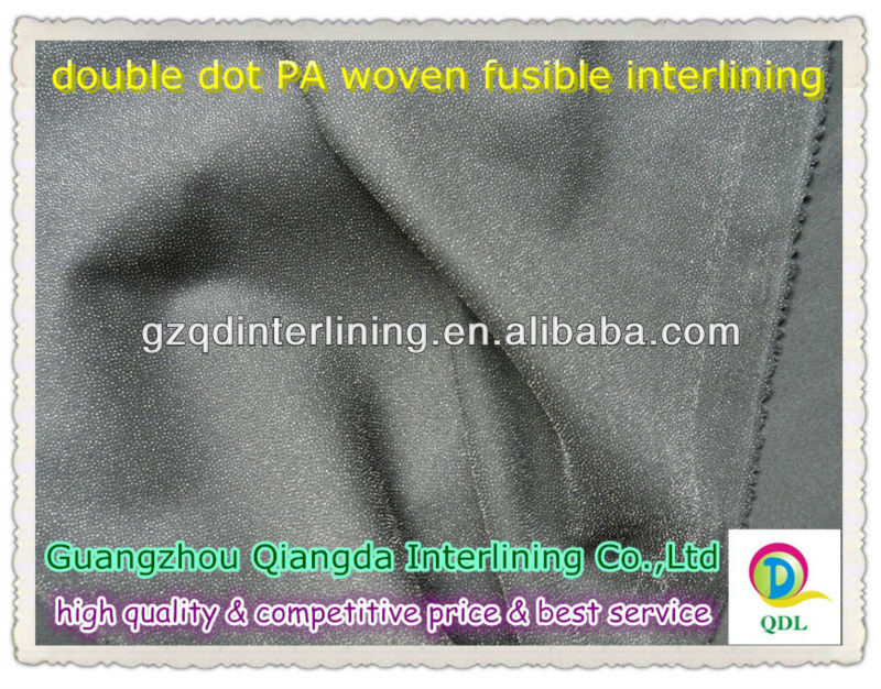 100%polyester warp kintted fusible interfacing woven interlining