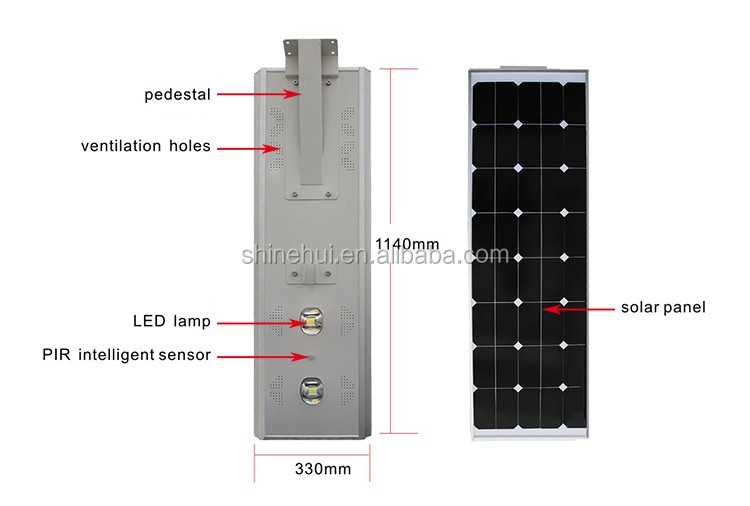 Shinehui Fctory directly supply Bridgelux from USA with high brightness 60w led outdoor solar tree lights