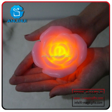 Scented Candles Manufacturer Light Night Rose Flower Led Lamp Candle