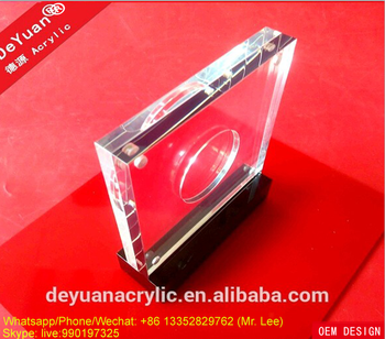 Clear plastic coin holders / special acrylic coin capsule