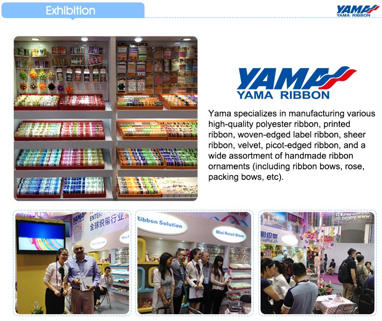 Yama Polyester grosgrain ribbon 196 colors chart catalogue