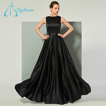 A-Line Satin Lace Best Mature Sex Evening Dress In China