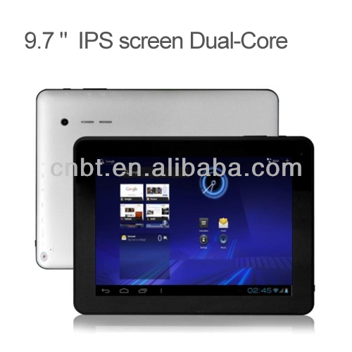 Good quality 9.7 inch super hd player tablet pc support dual camera