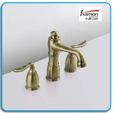 Three-hole Antique Brass Basin Faucet