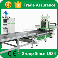 A2-482HBD multipurpose woodworking machine with two heads and drill units and discharge system from zhanchuang cnc