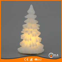 Top Sales Christmas Decorative LED Candles in Pine Trees Shaping Wholesale