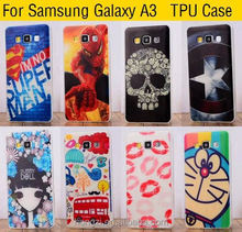 For samsung Galaxy A3 A300 SM-A300F Hot Painted Gel Case Back Cover Shell Cool Captain America Skull Flag Phone Cases Covers