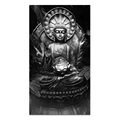 1 Piece Buddha Black and White Painting HD Printed Canvas Murals Wall Pictures for Hotel and Living Room Decor Ready to Hang
