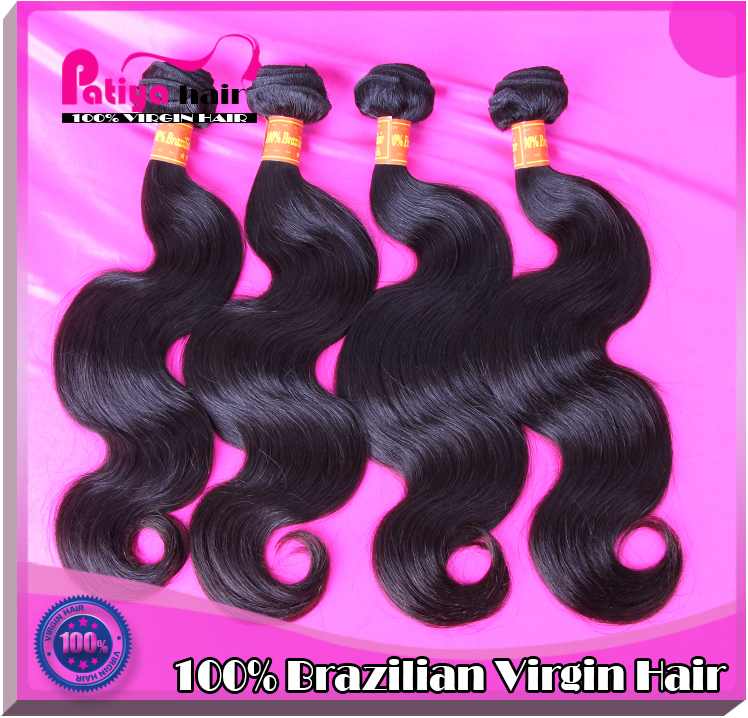 Hot selling pitch-black bright beautiful grade 6A unprocessed virgin brazilian hair