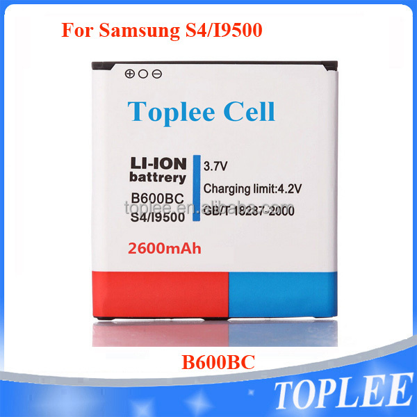 Li-ion battery 2600mAh 3.7V B600BC for Samsung S4 i9500 i9505 i9502 mobile phone battery