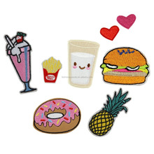 Mix Cartoon Foods Fruit Water Heart Embroidery Iron On Patches Clothes Appliques Sew On Motif Badge DIY Clothing Bag