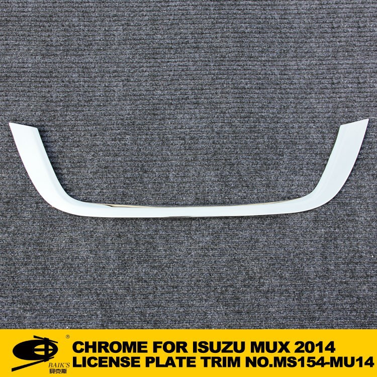 Chrome LICENSE PLATE TRIM forISUZU MUX 2014 chromed car accessories