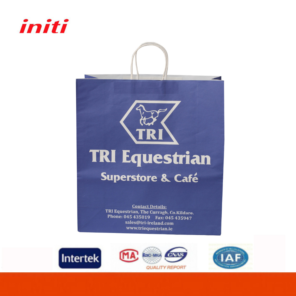 Heavy Duty Promotional Custom Printed Kraft Paper Shopping Bag