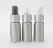 1 OZ Sliver Aluminum Spray Bottles Refillable for Perfume, Hiar Gel Water use