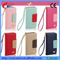 Factory Price Flip PU Leather Case For iPhone 6 6S Wallet