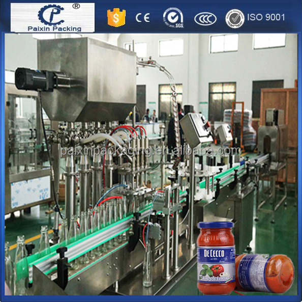 Plastic glass bottle sauce/fruit jam/jar honey filling machine Customized packing machine