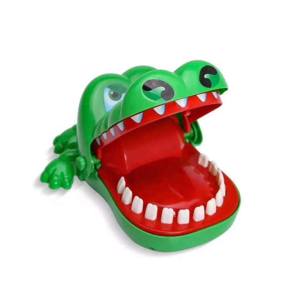 2019 Hot Sale New Creative Small Size Crocodile Mouth Dentist Bite Finger Game Funny Gags <strong>Toy</strong> For Kids Play Fun