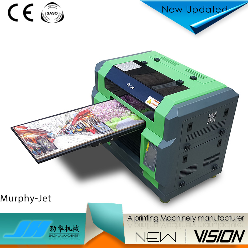 working now uv flatbed printer the Murphy-Jet plastic film printing machine