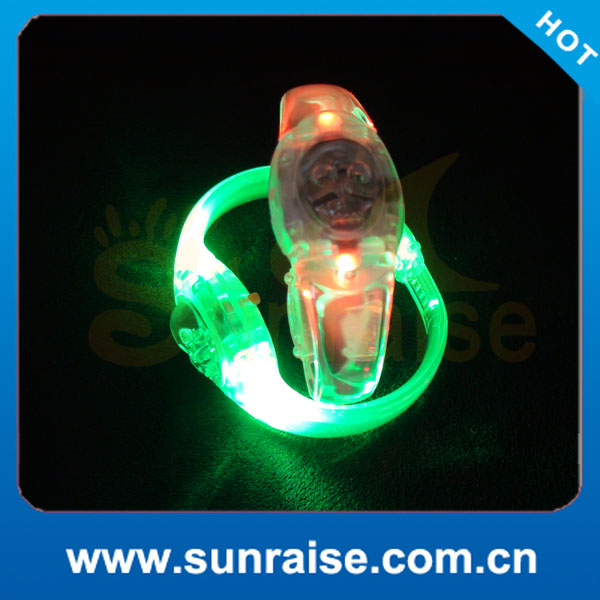New Sound Activated LED Bracelet, Remote Controlled for Options