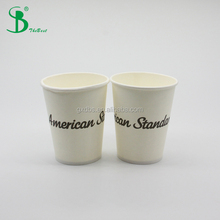 300gsm thick double PE single wall paper disposable iced coffee cup